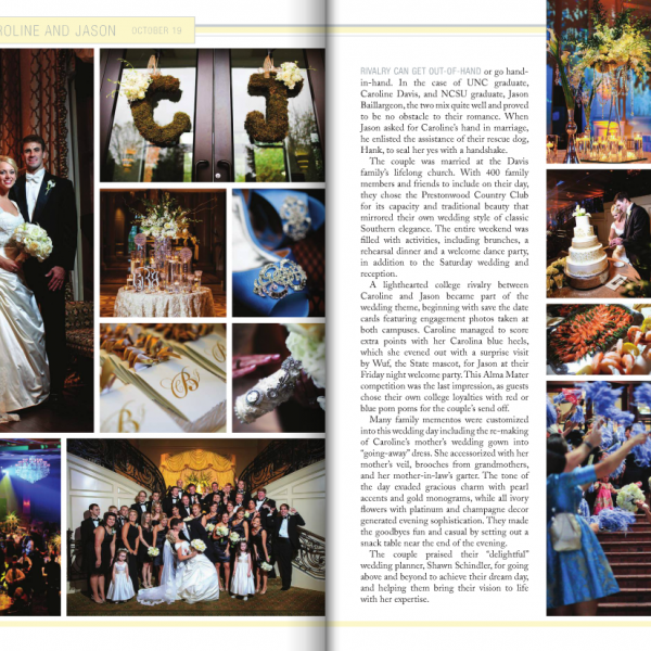 A Prestonwood Country Club Wedding Film | Caroline + Jason Featured in Southern Bride and Groom Magazine