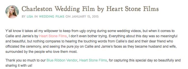 Southern Weddings :: A Charleston Wedding Film by Heart Stone Films