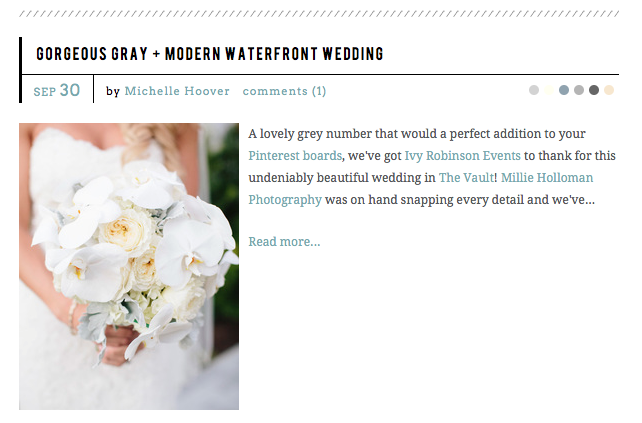 Style Me Pretty Feature - Gorgeous Gray + Modern Waterfront Wedding