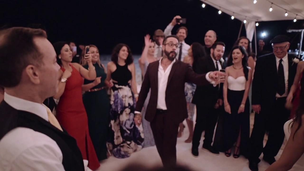 BACKSTREET BOYS AJ MCLEAN Leads Wedding Guests in